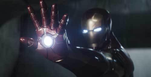 Iron Man uses his powers on Cap