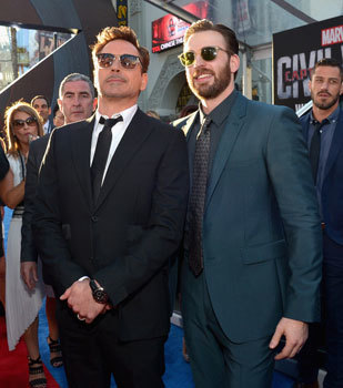 Robert and Chris at the premiere
