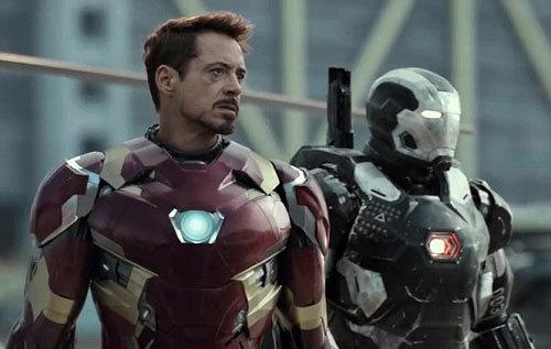 Tony (Iron Man) and War Machine wonder who will win