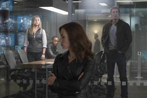Agent 13, Black Widow and Steve at HQ