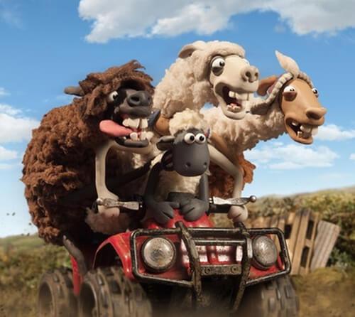 Shaun and llamas go 4-wheeling