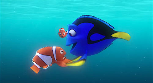 Dory with Marlin and Nemo