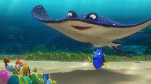 Dory with Mr. Ray and class