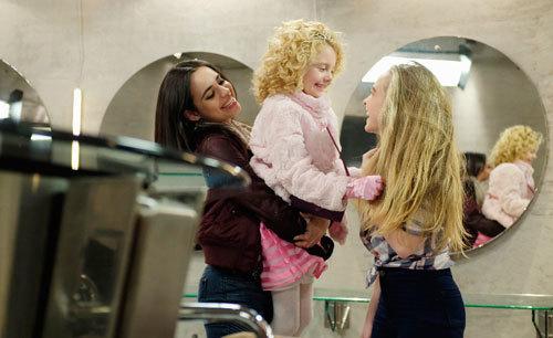 Sofia as Lola holds Katy as Jenny (Sabrina) looks on