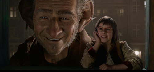 BFG and Sophie watch a young boy dream