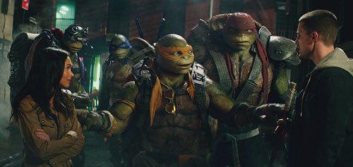 April O'Neil, Donatello, Leonardo, Michelangelo, Raphael and Casey Jones