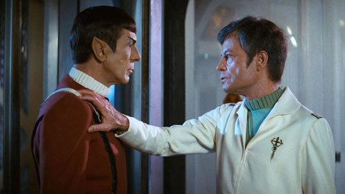 Dr. McCoy confronts Spock