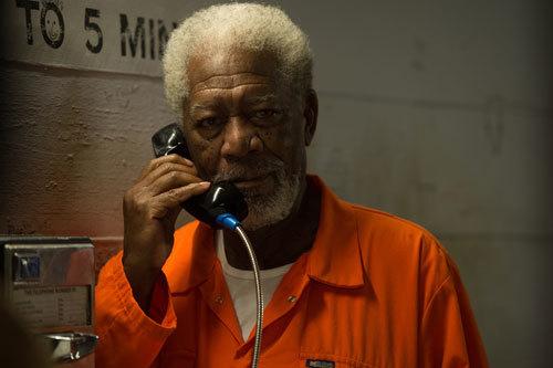 Morgan Freeman as Thaddeus in prison