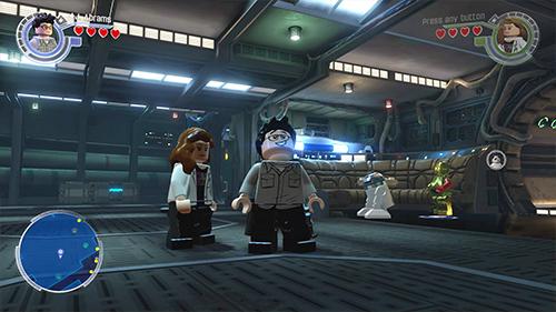 JJ Abrams and Kathleen Kennedy run through the LEGO Millenium Falcon.