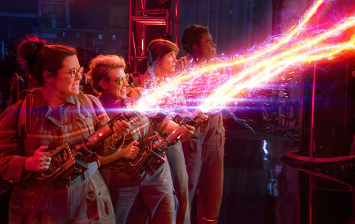 Ghostbusters in action