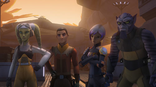 Hera, Ezra, Sabine, and Zeb