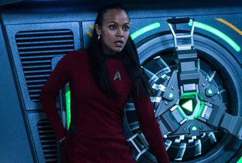 A frightened Uhura