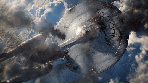 The badly-damaged Enterprise
