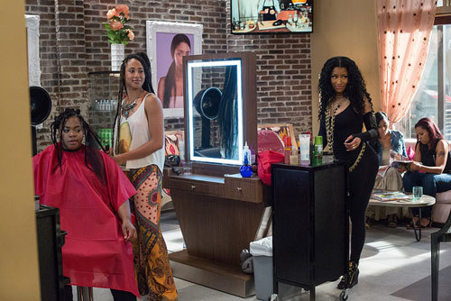 Draya (Nicki Minaj) and the girls argue with the guys