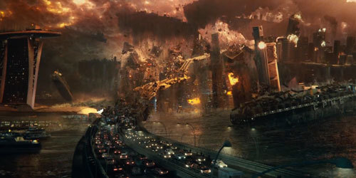 An alien attack has devastating effects on a major world capital