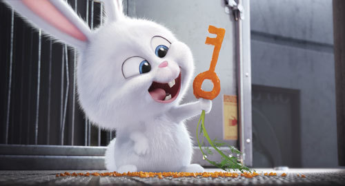An adorable and deranged bunny, Snowball is the leader of the Flushed Pets