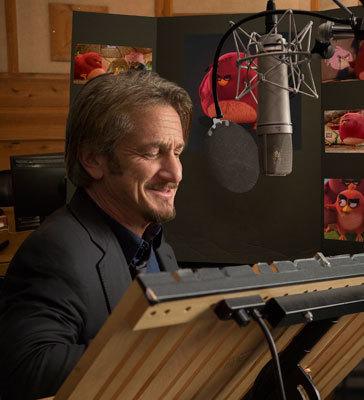 Sean Penn recording the voice of Terrance