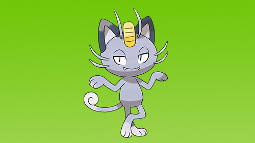 Meowth's changed up since visiting the Alolan region.