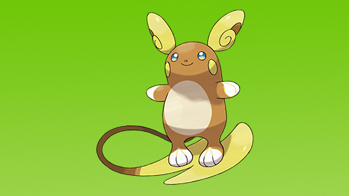 Pikachu's evolution, Raichu, has a new form for the new world.
