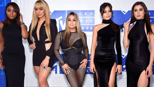 Fifth Harmony on the white carpet