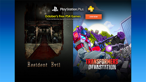 PlayStation Plus's lineup for October 2016.