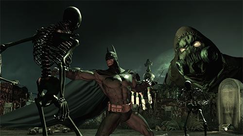 Batman fights through a Scarecrow nightmare.