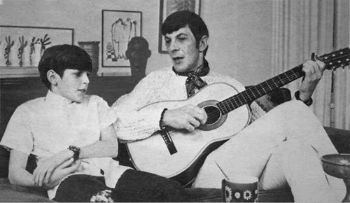 Young Adam Nimoy listens to dad's music