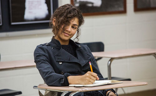 Zendaya as Michelle in class