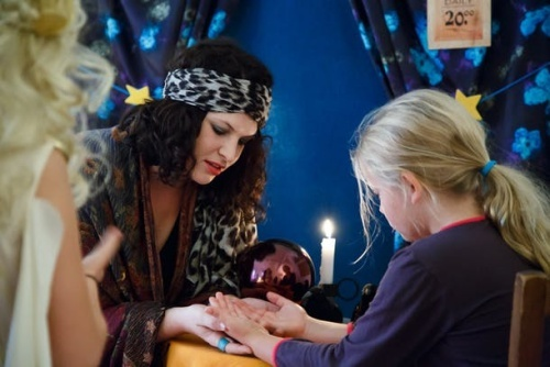 A fortune teller lends a fun eerie air to your party