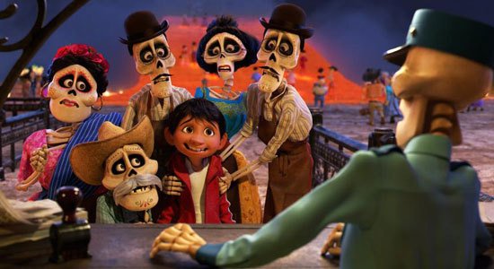Miguel finds himself magically transported to the stunning and colorful Land of the Dead