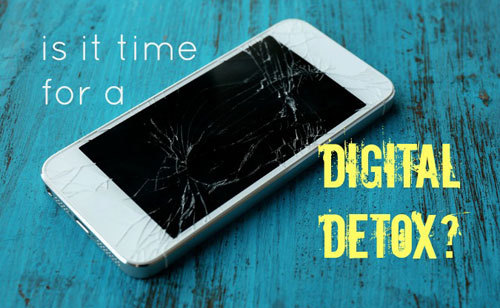 Digital detox means that you are offline.