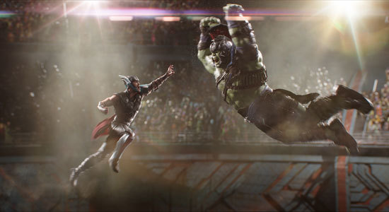 Thor Vs. Hulk in the arena