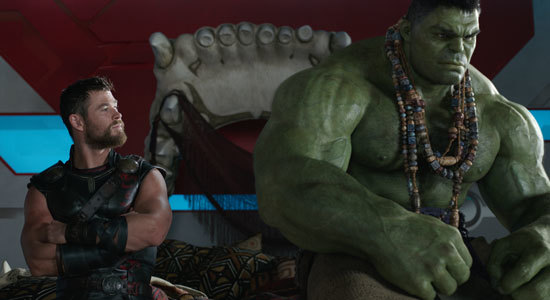 Thor and Hulk before the battle