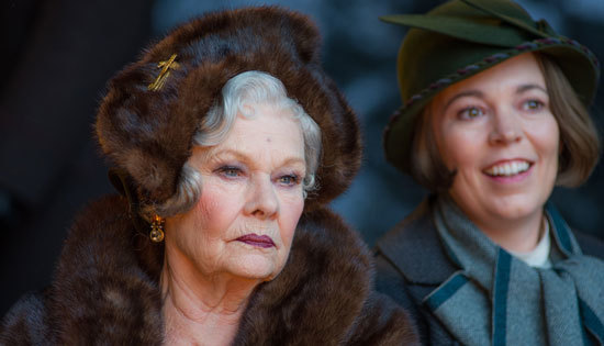 The Princess (Judi Dench) and her assistant