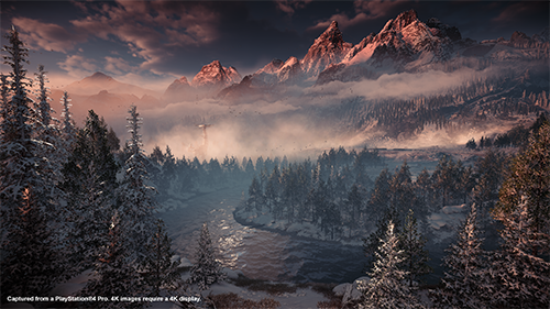 The impressive vistas from the first game are just as impressive in the DLC.