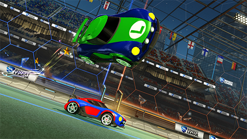 The blue on Nintendo's cars cause a problem when identifying teammates.