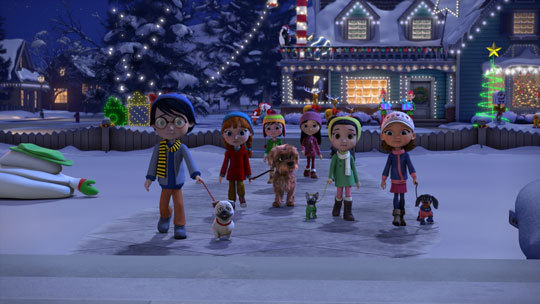 Little Mariah and friends have Holiday fun surrounded by the Christmas spirit