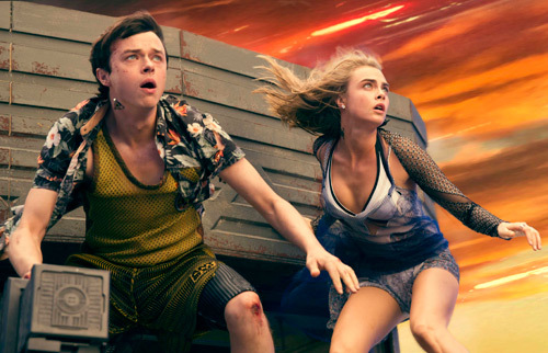 Valerian and Laureline are chased after escaping Big Market