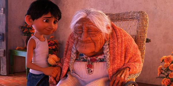 Miguel loves his very elderly great grandma Coco