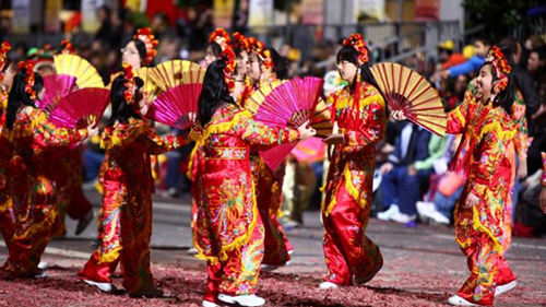 The biggest Chinese New Year celebration in the West is in San Fransisco!