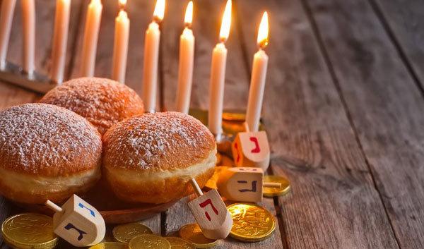 A traditional hanukkah menorah