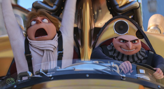 Gru and Dru take a joyride