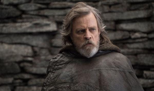 Luke Skywalker (Mark Hamill) is troubled and worried