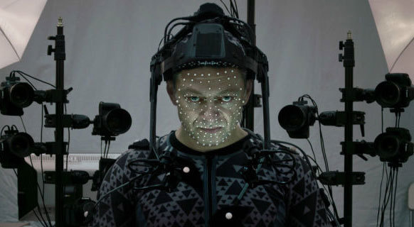 Andy Serkis in motion capture gear