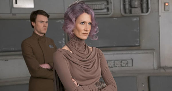 Vice-Admiral Holdo (Laura Dern) has to take over