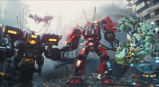 The ninjas in their massive Mechs