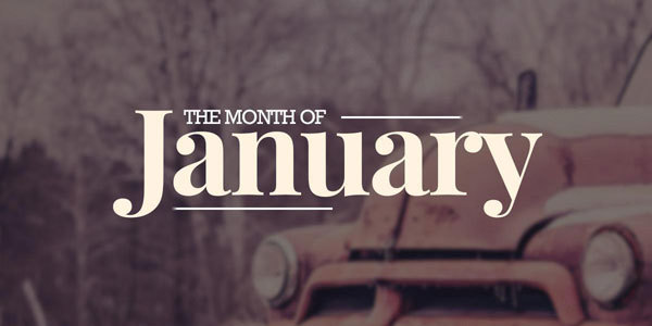 Feature the month january feat