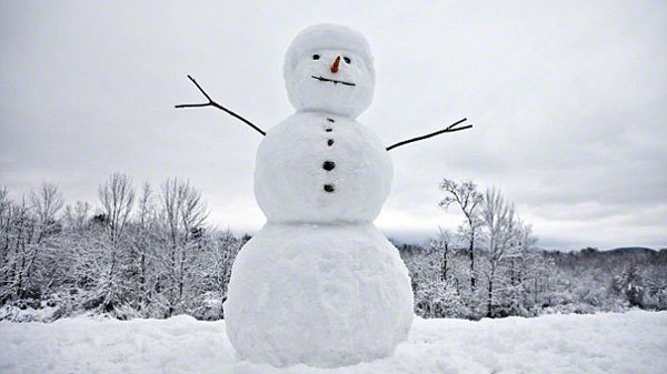 Build a snowman this season.