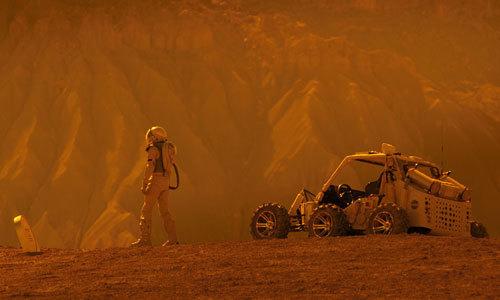 Gardner on Mars, visits his mom's grave