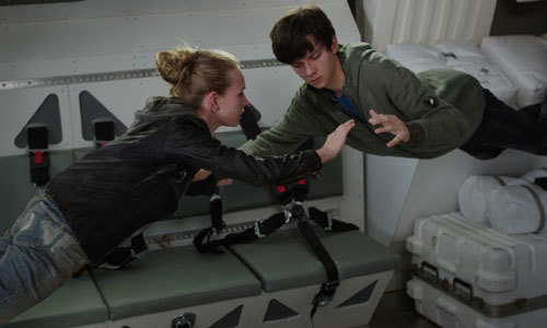 Gardner and Tulsa float on the shuttle